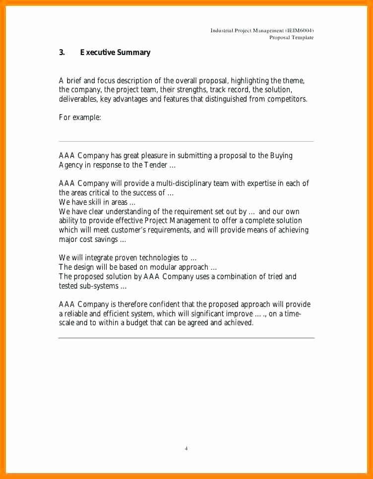 Project Executive Summary Template Word in 2020   Executive summary template. Executive summary example. Executive summary
