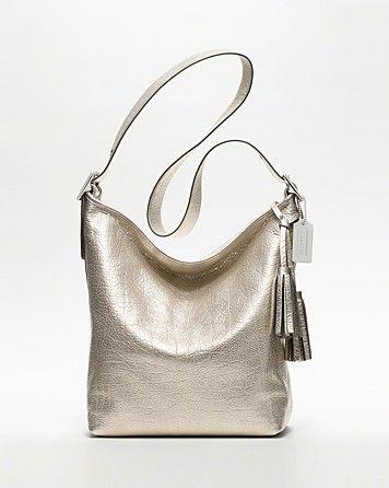 Coach Legacy Metallic Leather Duffle Handbags Bloomingdale S