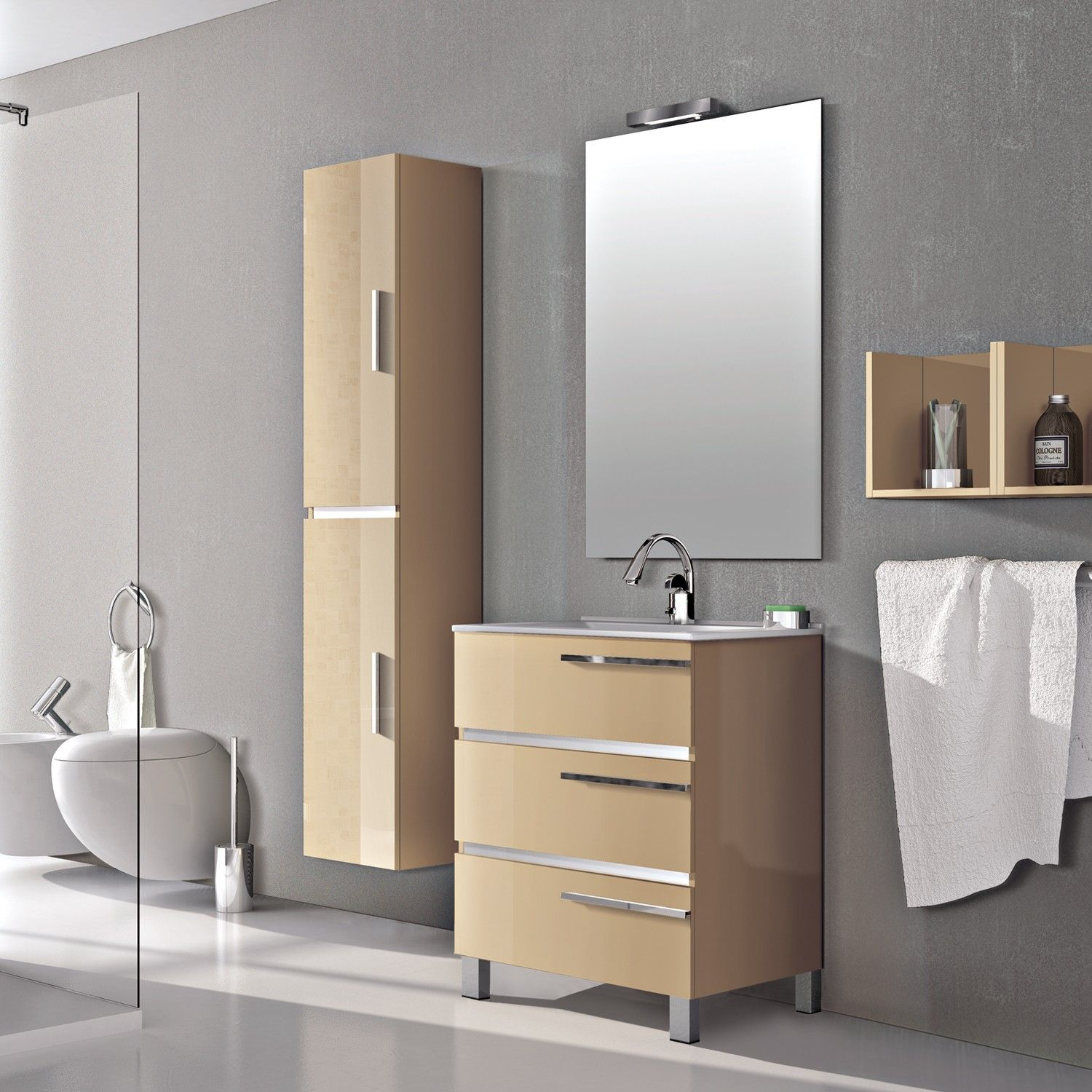 30 Colorful Free Standing Bathroom Cabinets With Images