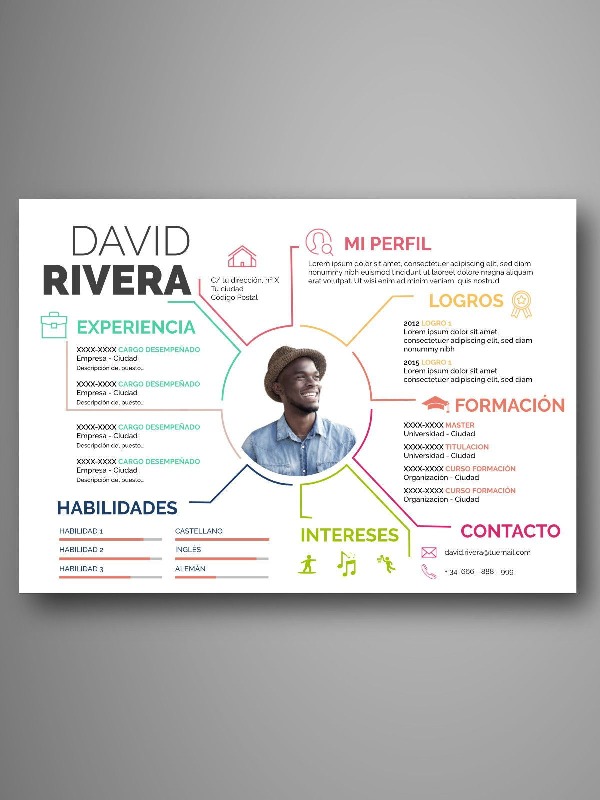 Descarga plantillas editables de Curriculum Vitae – CV visuales y ...