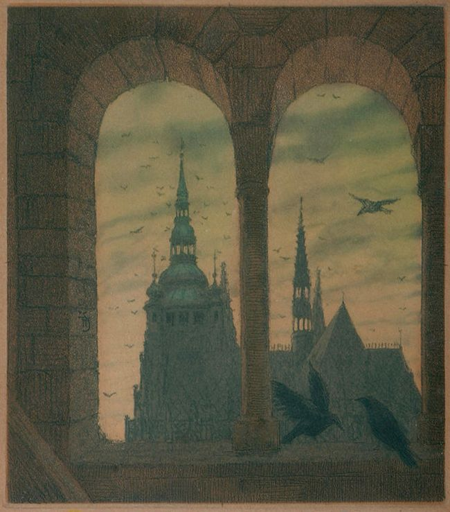 Tavik František Šimon - Cathedral from a Tower of the Basillica of Saint George