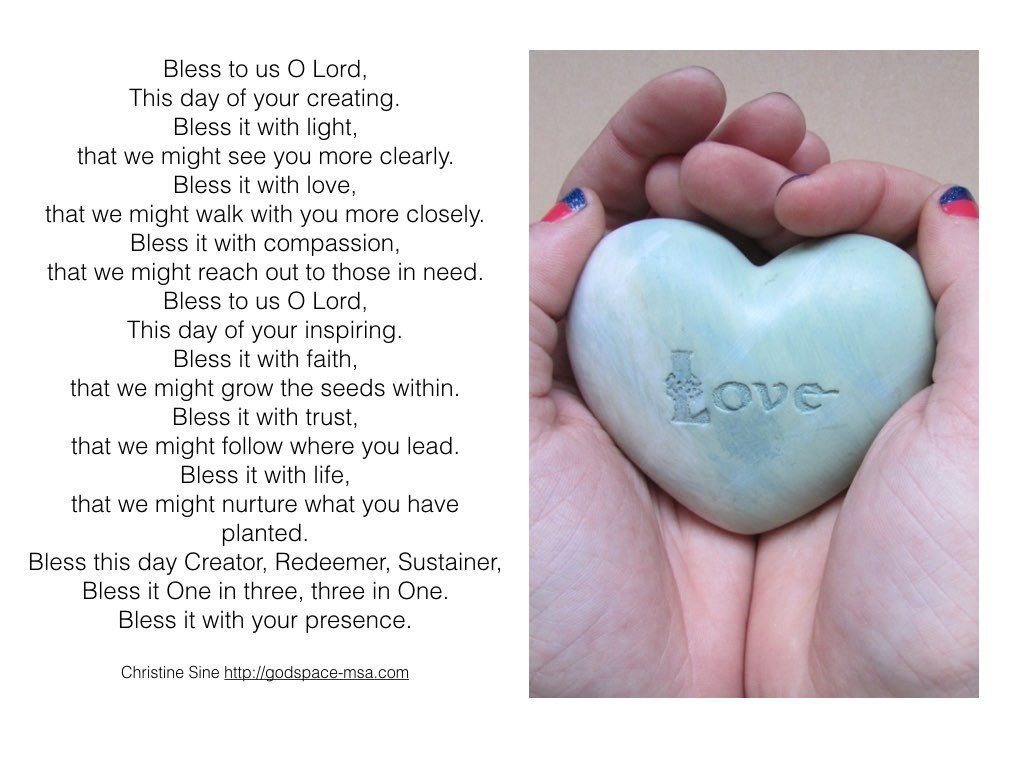 Meditation Monday - Bless This Day O Lord