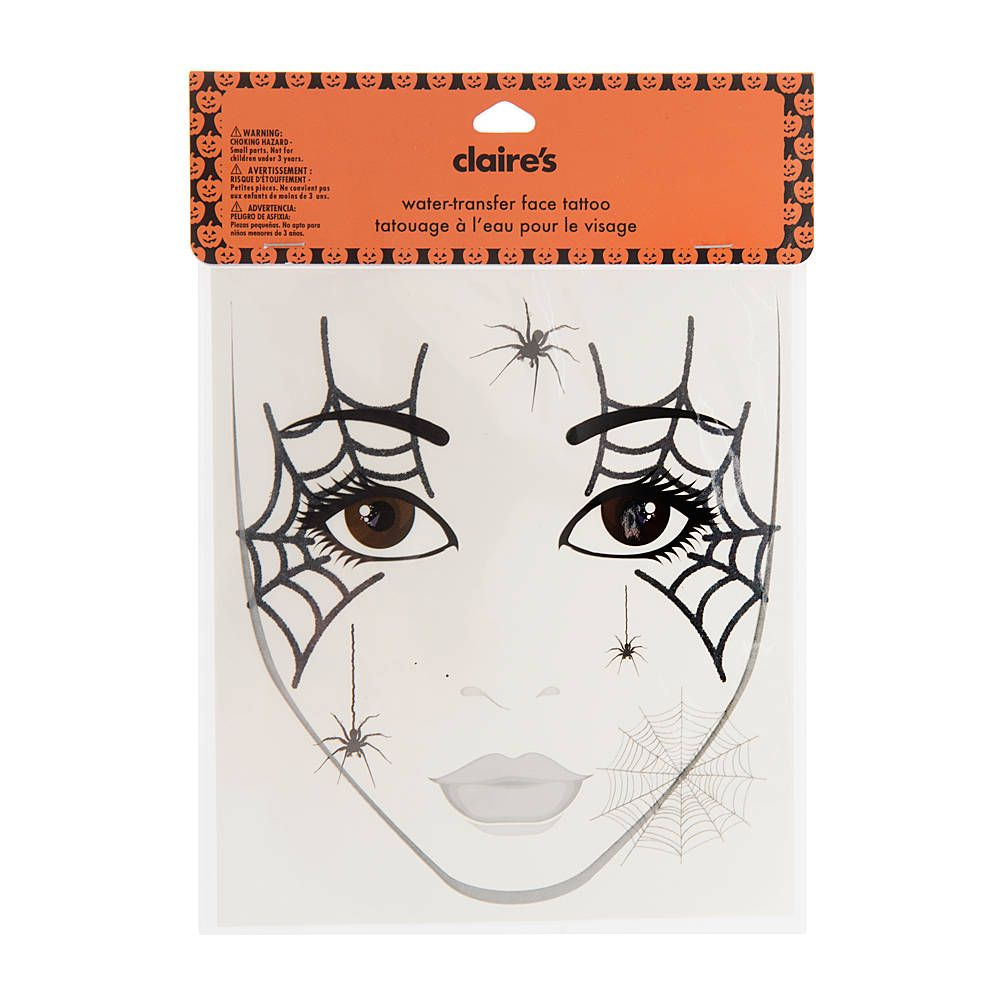 halloween spider web face tattoo | claire's | halloweem ideal