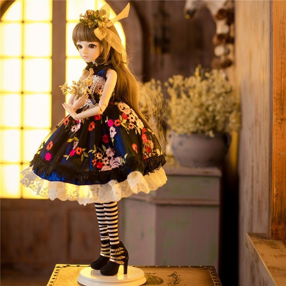 1 3 BJD Doll Birthday Gift Free Face Make up Eyes Clothes Wig Shoes Girls  Doll  Affilink c307a8f1b767