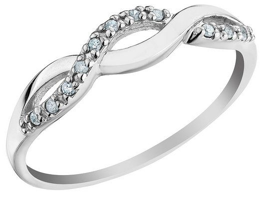 Infinity Diamond Promise Ring In 10k White Gold I Want This