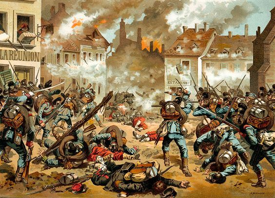 Battle of Sedan Prussian troops caturing Sedan, France