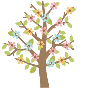 Flowers cut file for scrapbooking flower free flower svg file free cut - Spring Tree Scrapbook Cut File Cute Clipart Files For