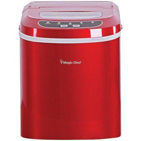 Magic Chef 27 Lb Capacity Portable Countertop Ice Maker Red