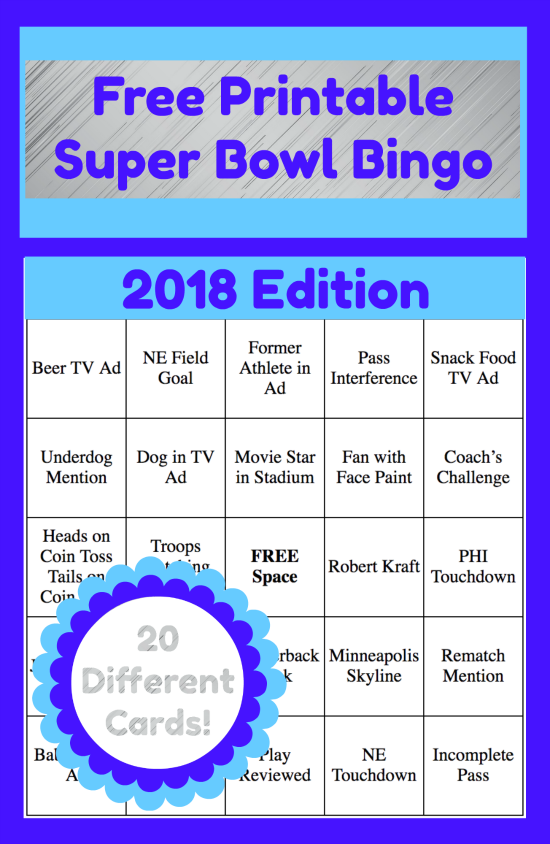 picture about Printable Super Bowl Bingo Cards known as 2019 Printable Tremendous Bowl Bingo Playing cards Great of Thrifty
