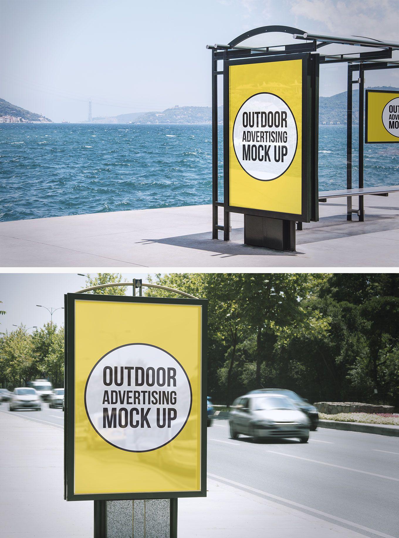 2 Outdoor Advertising Mock Ups Download Freebie By Pixelbuddha Outdoor Advertising Mockup Outdoor Advertising Outdoor Advertising Billboard
