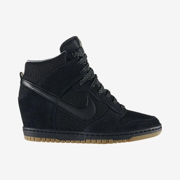 big sale d584c aa8fb New NIKE Dunk Sky Hi BlackBlack High-Top Wedge Celebrity Sneaker 9 US  40.5 EU