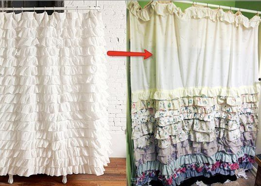 How To Make Your Own Ruffled Shower Curtain