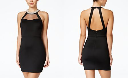 d52b74296 Speechless Juniors' Sleeveless Embellished Bodycon Dress | Semi ...