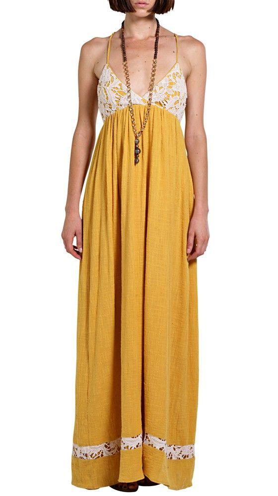 Lace Trim Maxi Dress Fancy Attire Yellow Maxi Dress Maxi Dress