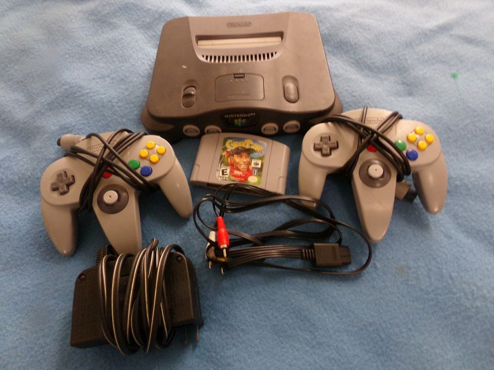 Nintendo 64 Console Complete With 2 Controllers Cyber Tiger