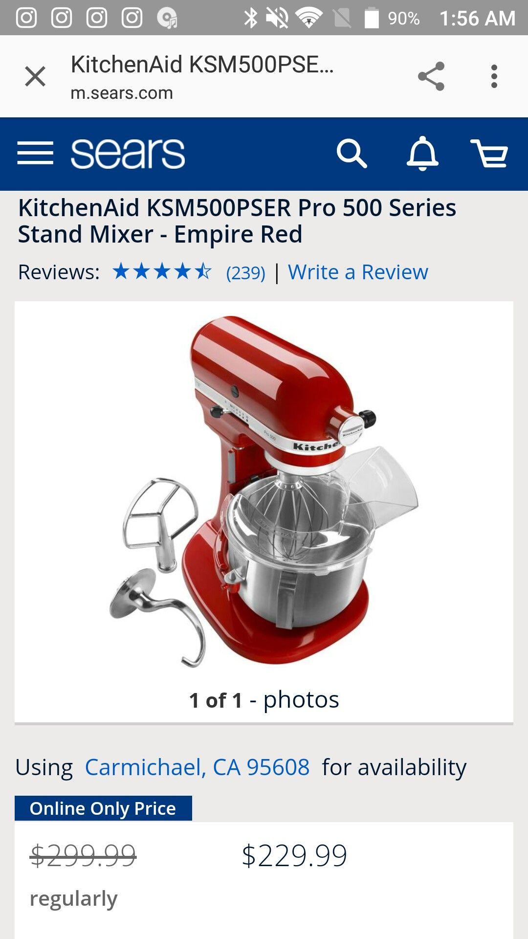 kitchenaid mixer empire red uk
