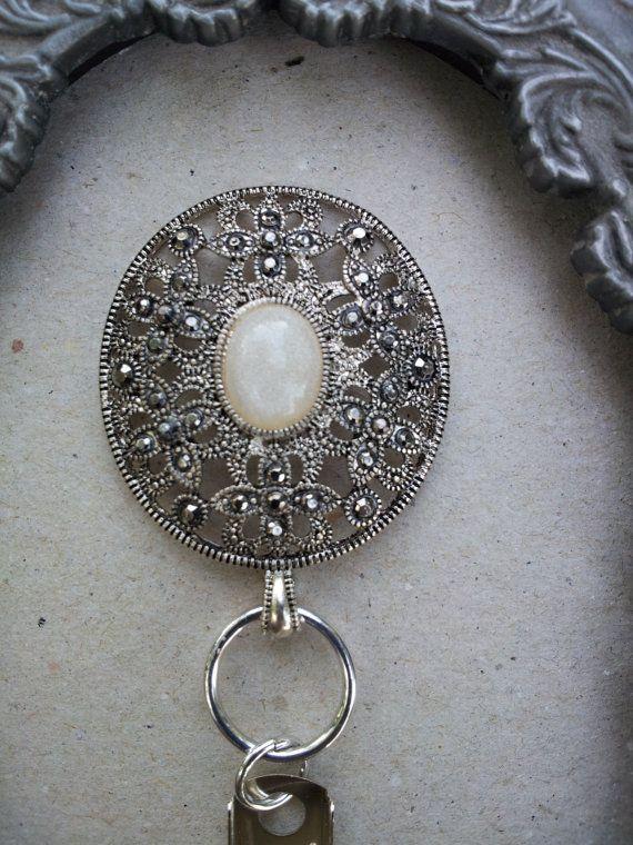 b0ccaa62c0a Beautiful Pearl Magnetic Jewelry Badge Holder - Lanyard and Badge ...