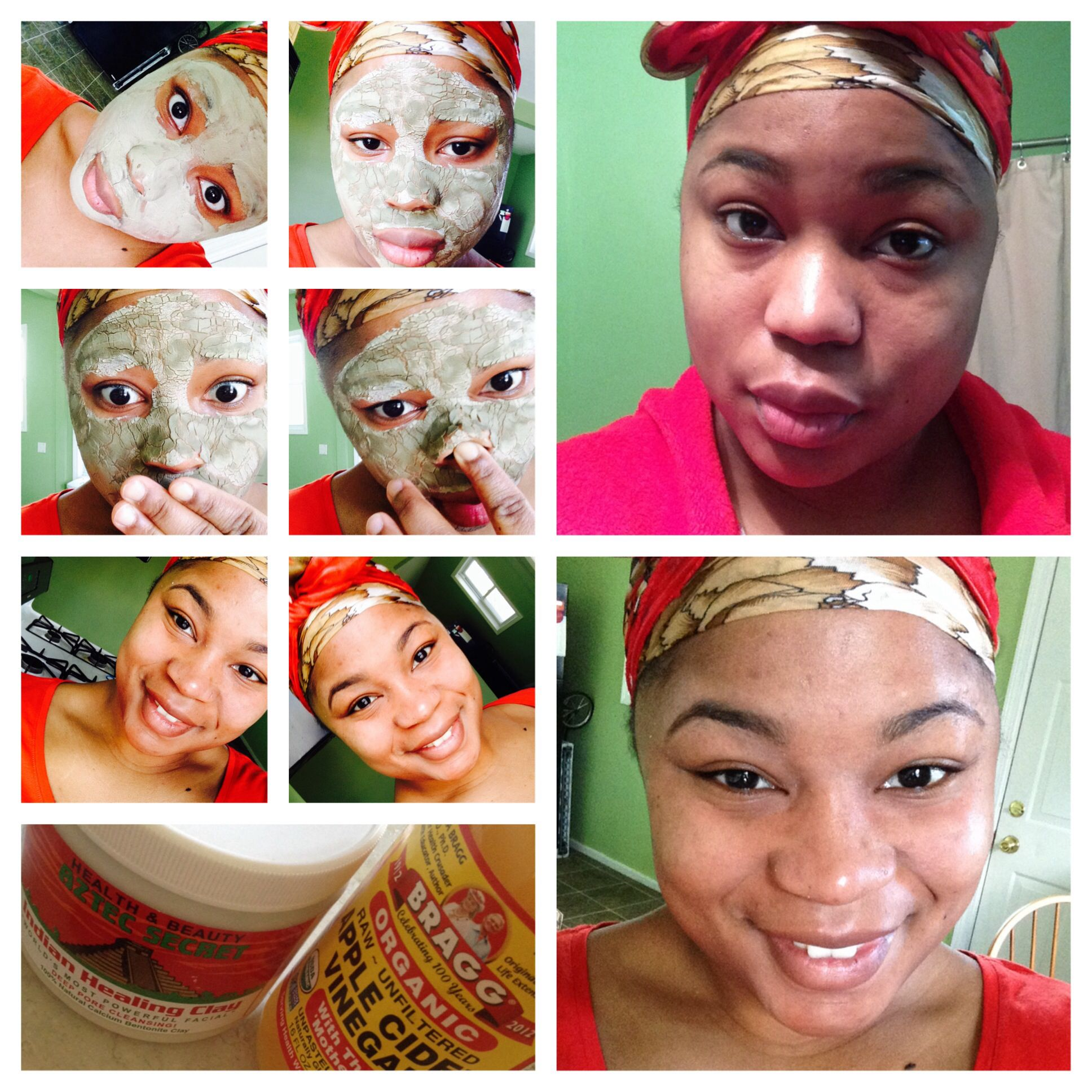aztec indian clay mask before and after body good pinterest
