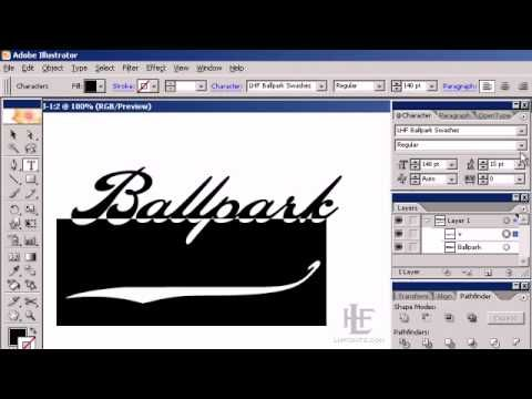 Kaitlin Sims demonstrates how to use LHF Ballpark Script with the LHF Ballpark Swash font in Adobe Illustrator. When you download Ballpark Script you also receive a swash font. This swash font contains various decorative swashes in place of characters.     http://letterheadfonts.com/fonts/ballparkscript.php