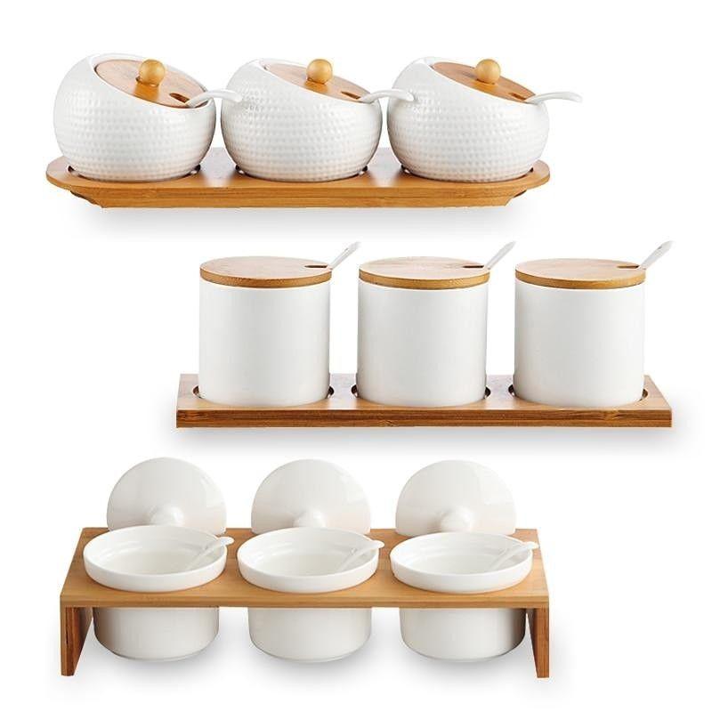 Set De Pots A Epices Pots A Epices Pots En Ceramique Pots