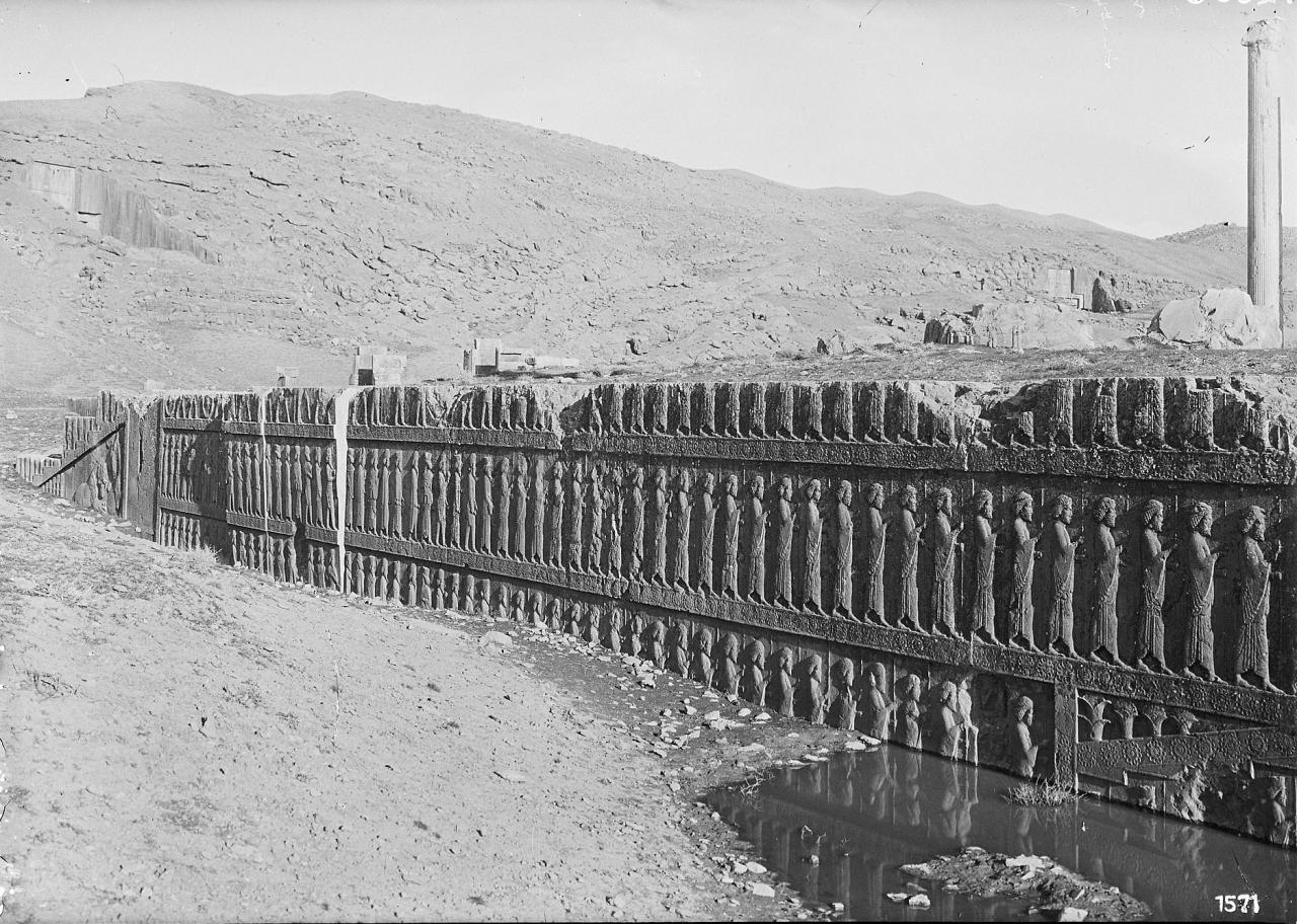 "Best ""Excavation Of Persepolis Iran Apadana North Side East Wing Of Ceremonial Stairway With 400 x 300"