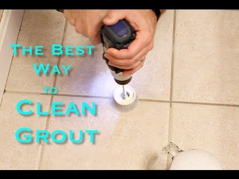 Best Way To Clean Grout Ever By Home Repair Tutor Youtube Homemade Drill Attachment To Use For Cleaning Grout Cleaner Diy Grout Cleaning