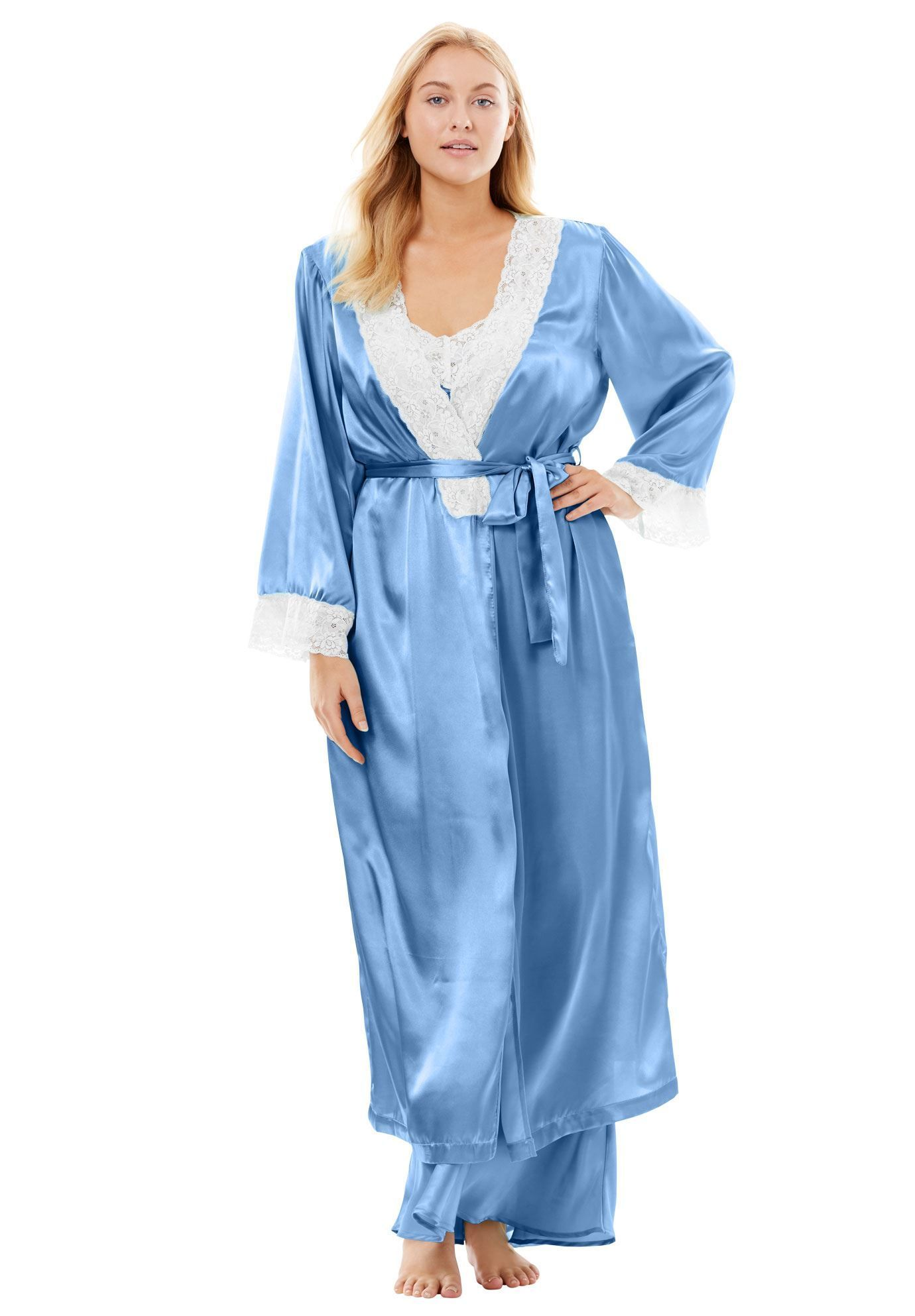 20793997eac87 Long Satin Peignoir Set by Amoureuse - Women s Plus Size Clothing ...