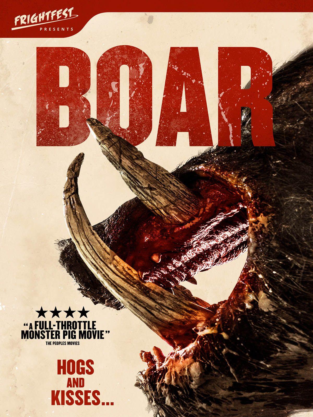 Boar, AKA giant CGI pig vs  giant (non-digital) Nathan Jones