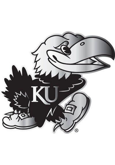Kansas Jayhawks Auto Decal Ku Jayhawks 4x5 Metallic Jayhawk Decal