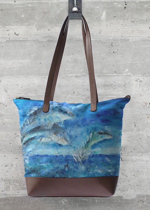 VIDA Tote Bag - BLUE DOLPHIN TOTE by VIDA exIgWUd