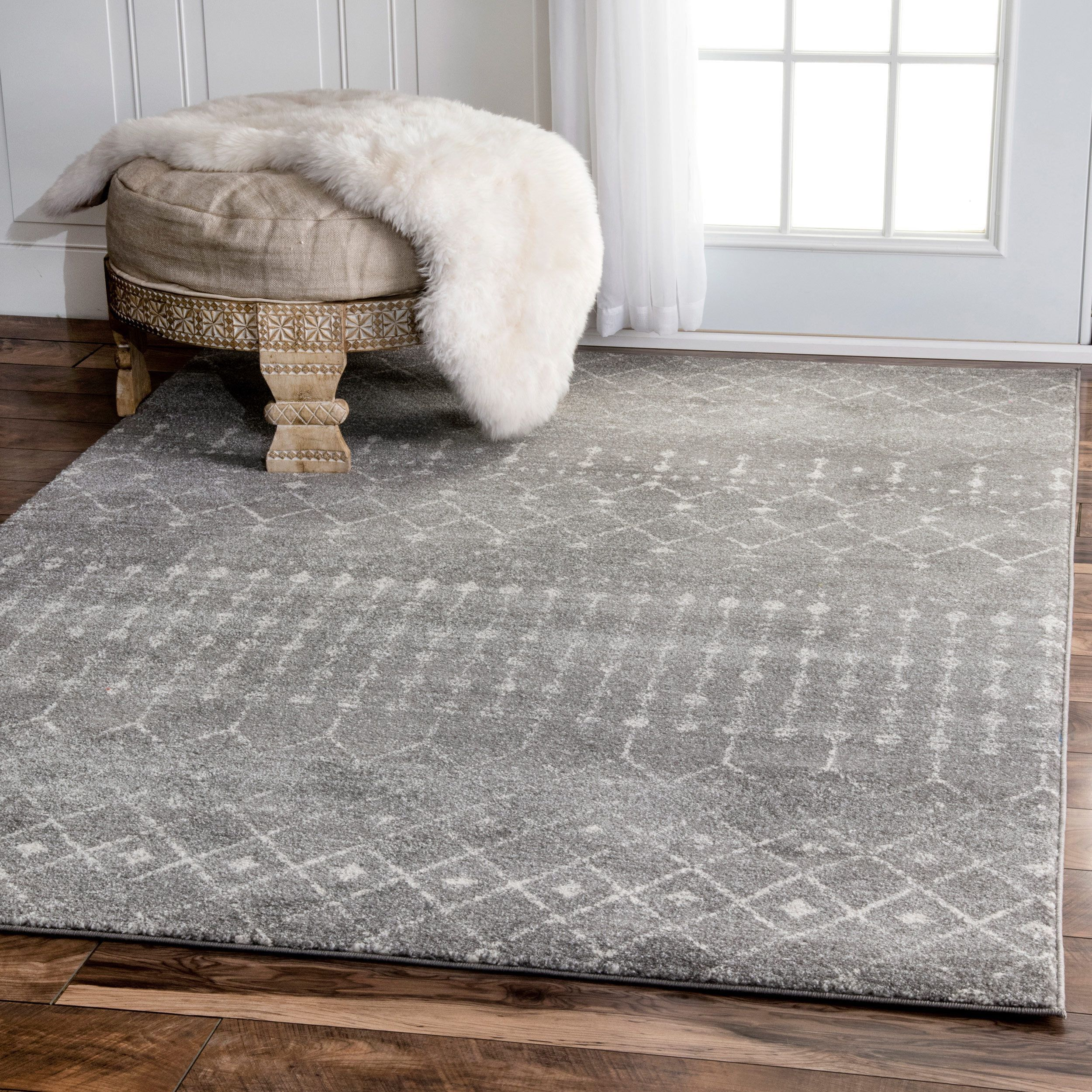 Grey,Ivory,9 X 12 Area Rug,Indoor Home Goods: Free Shipping