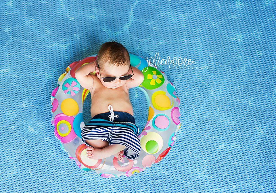Beach newborn pool newborn summer newborn