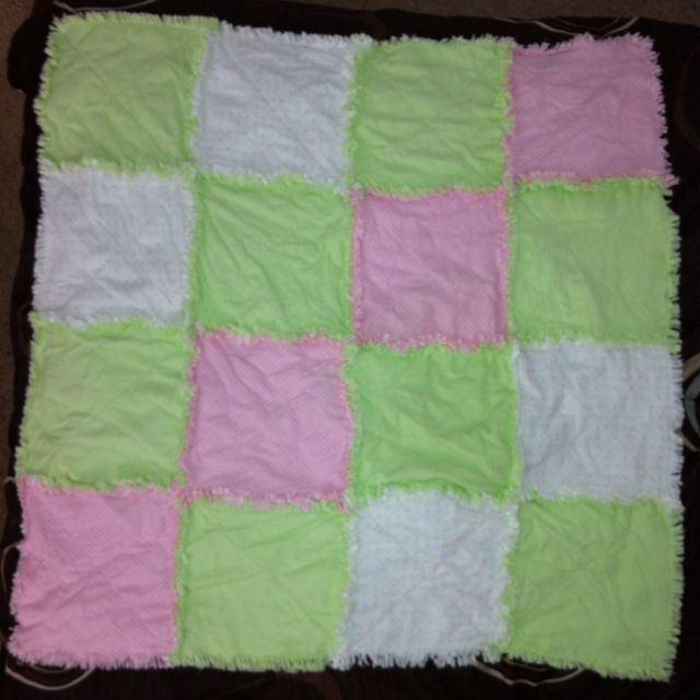 This rag quilt is One of my first sewing projects.