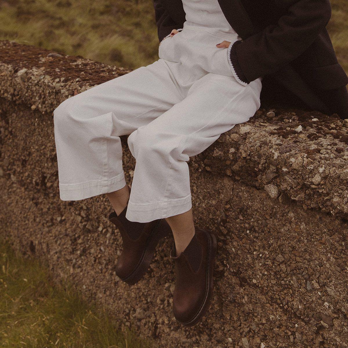 Bottines à plateforme Femme en cuir marron | Jonak