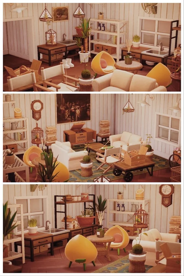 Another Basic Living Room With My Beloved Yellow Peach Chairs Animalcrossing In 2020 Animal Crossing 3ds Animal Crossing Villagers Animal Crossing #peach #living #room #ideas