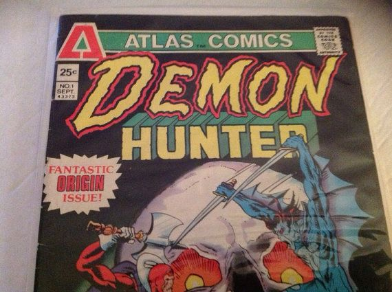 1976 Demon Hunter - Atlas Comic Book - issue 1 Origin Comic by VinylRocket #TrendingEtsy