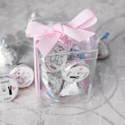 Mini Acrylic Favor Box Wedding Kisshershey