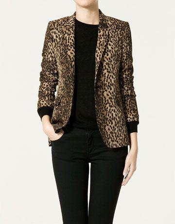 0b6f38f5144c Zara Leopard Print Blazer | style. | Leopard blazer, Blazer, Fashion