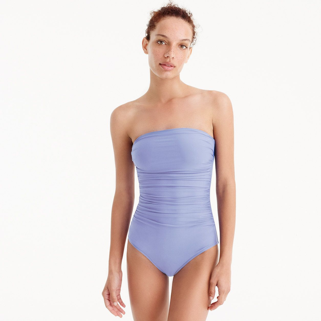 7dc86a8778715 J.Crew Womens Ruched Bandeau One-Piece Swimsuit (Size 10)