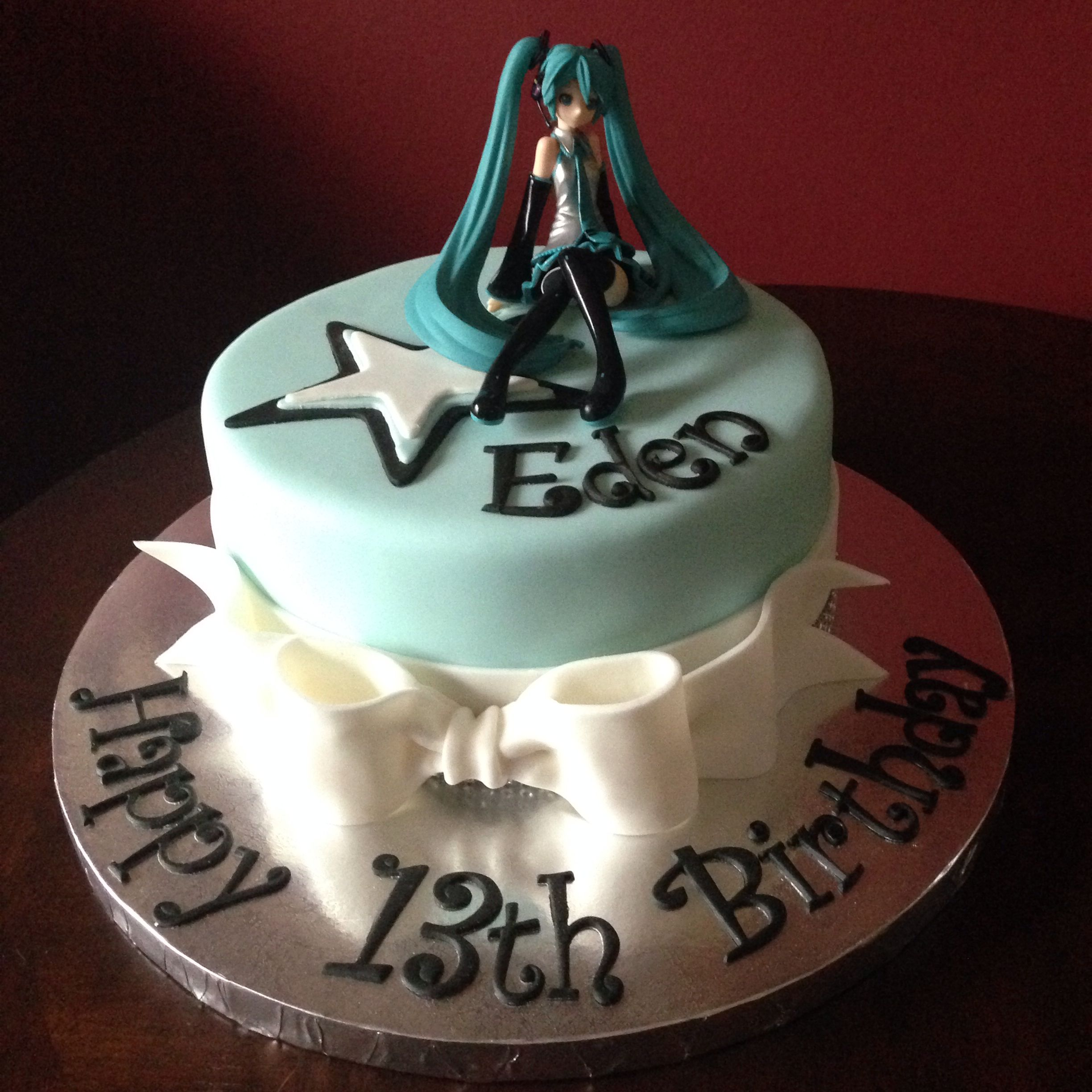 Hatsune Miku Birthday Cake Abby 13th Pinterest Hatsune Miku