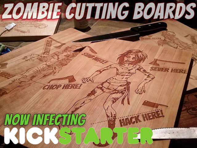Pour la #cuisine : planche à découper les #zombies. #halloween