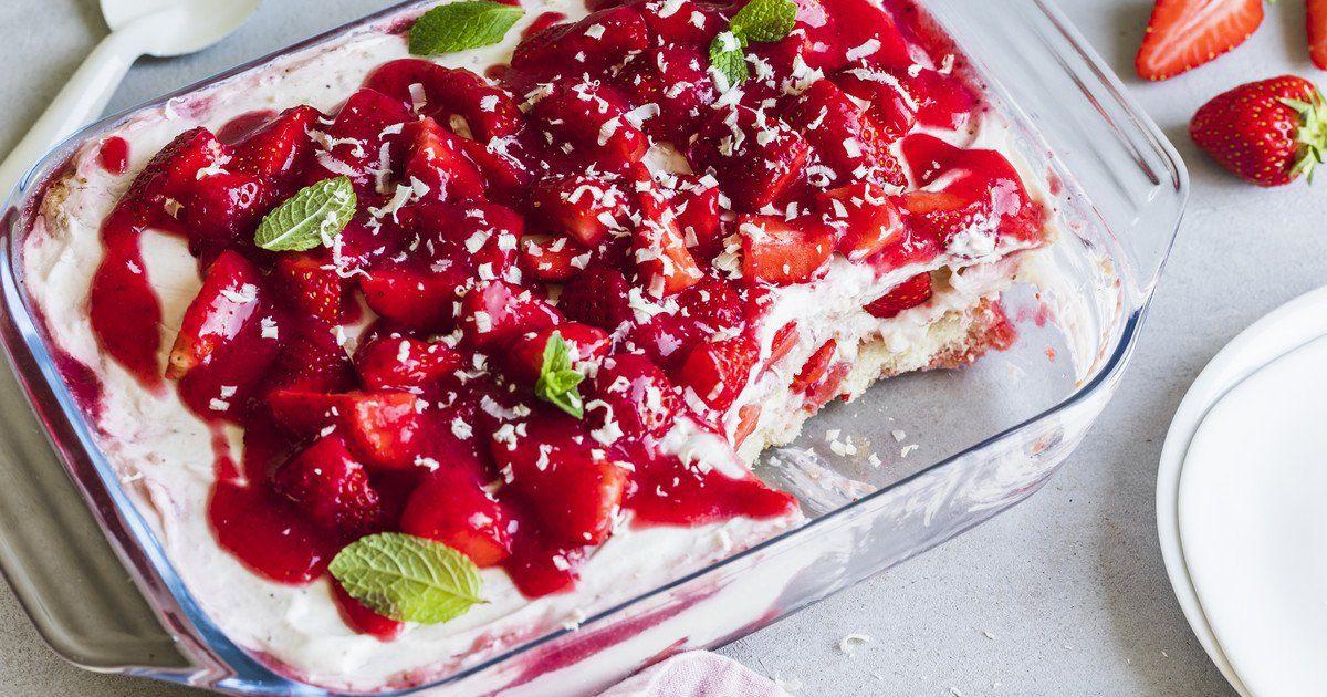 Erdbeer-Lasagne #löffelbiskuitrezept