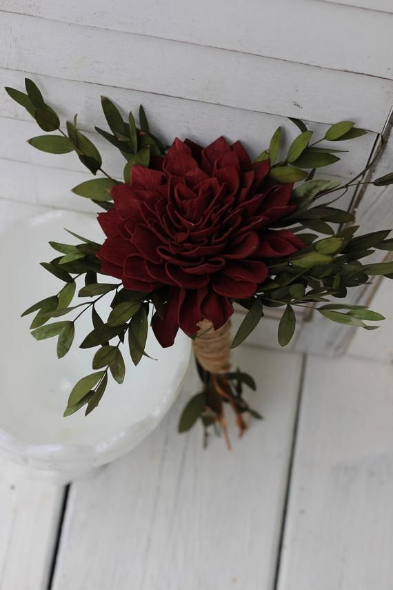 Marsala burgundy bouquet, Rustic Wedding, Country Wedding, Wedding Flowers, Bridal Bouquet, Wedding Bouquet, sola bouquet, sola flowers - Wedding - #Bouquet #bridal #Burgundy #Country #Flowers #Marsala #rustic #Sola #Wedding #flowerbouquetwedding