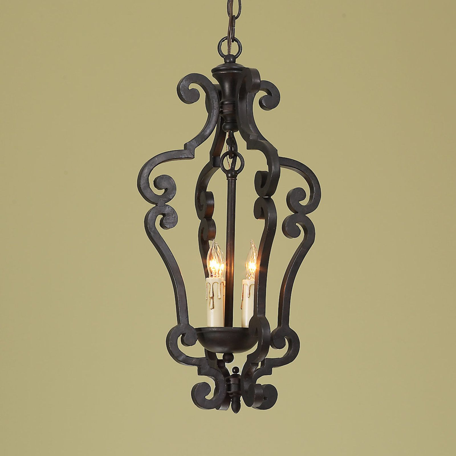 Black Iron Scroll Lantern Small Black Iron Chandeliers Foyer Decorating Iron Lighting