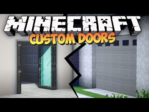 The Malisis Doors Mod for Minecraft takes Custom Doors to a whole new level. This Mod Showcase shows off the creme of today\u0027s Creative mods for Minecraft. & Minecraft Xbox: Lockable Piston Doors [TUTORIAL] Sliding Glass ...