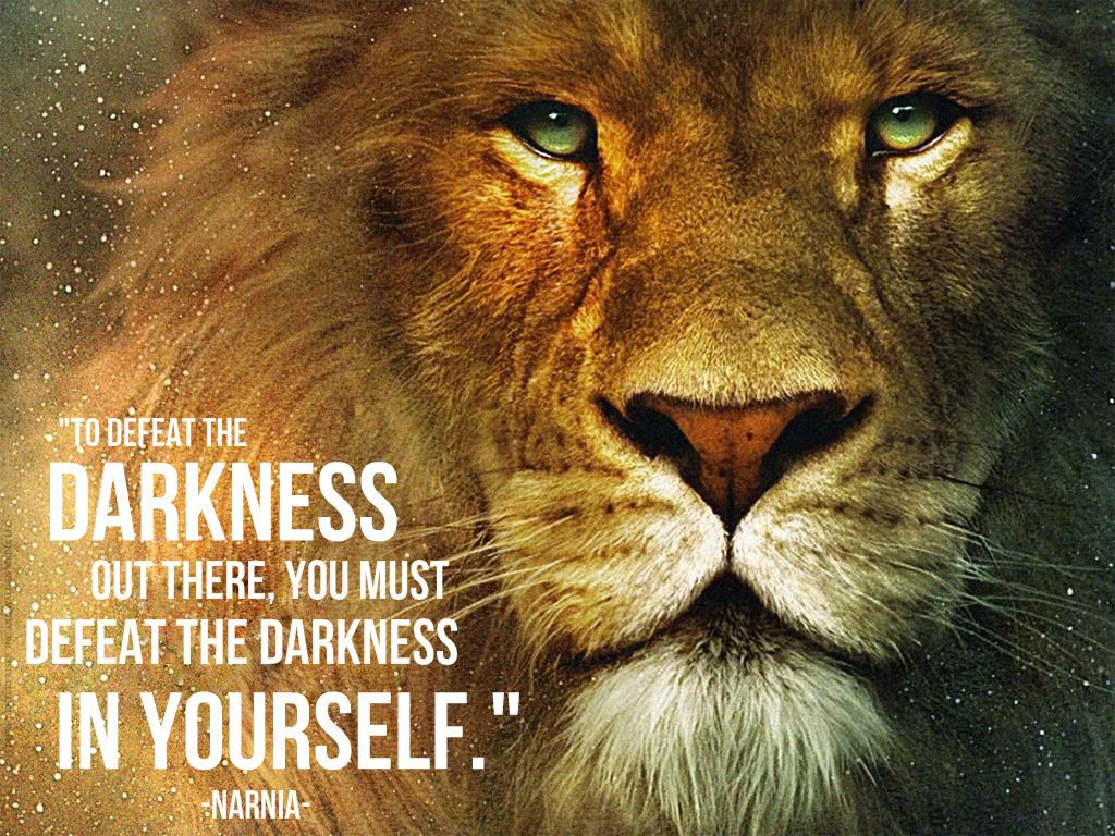 To defeat the darkness out there, you must defeat the darkness ... for Narnia Movie Quotes  181obs