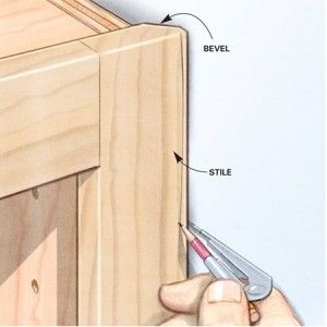 Bevel Back Your Face Frame To Make It Easy To Scribe To