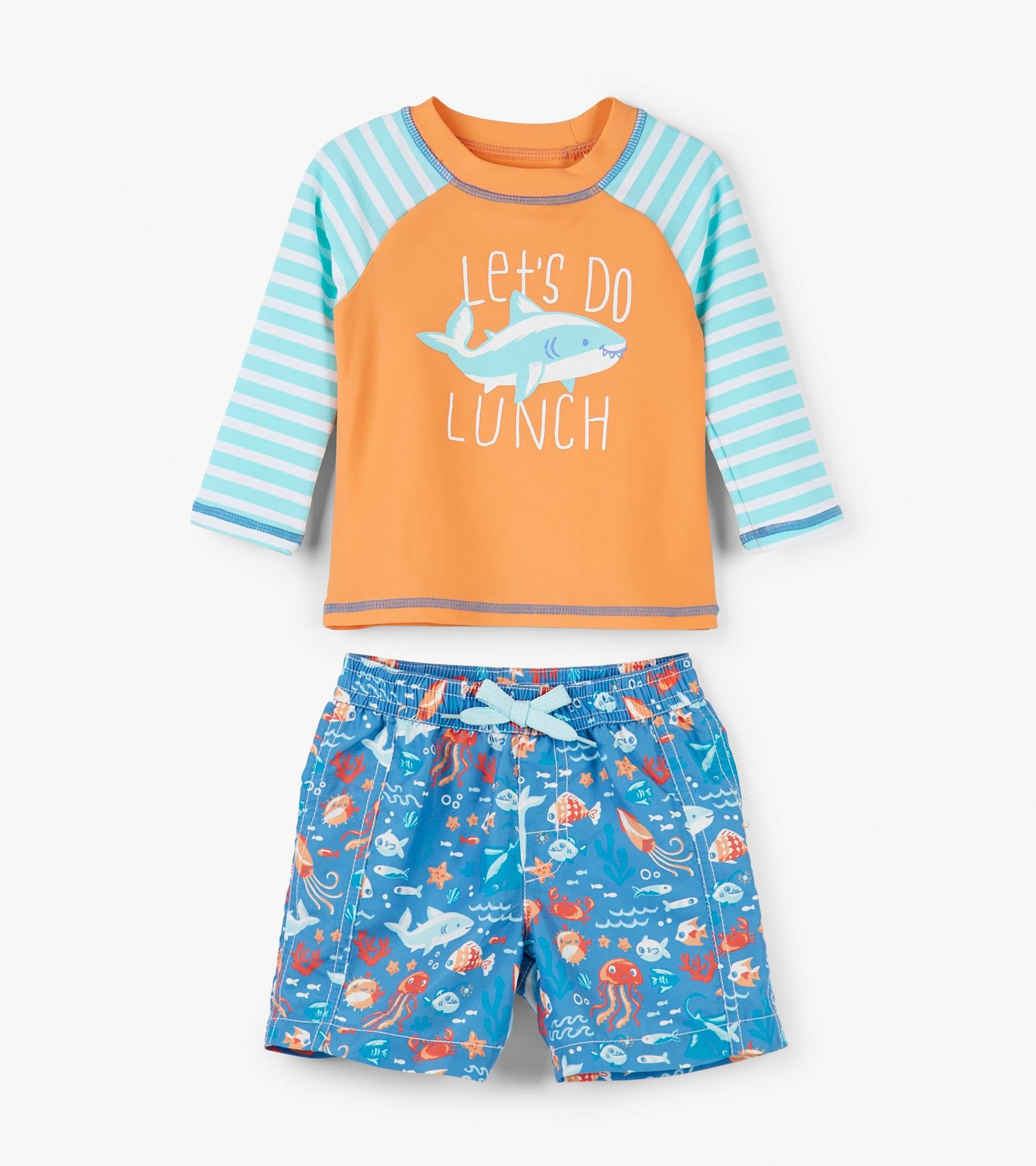 6f583b017a2a2 Ocean Animals Baby Rashguard Set - Swimwear - Categories - Baby Boys |  Hatley US
