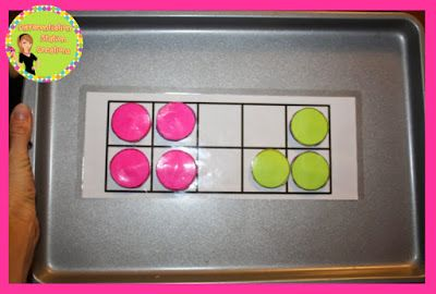 Make Your Own Magnetic Ten Frame And Double Sided Counters For