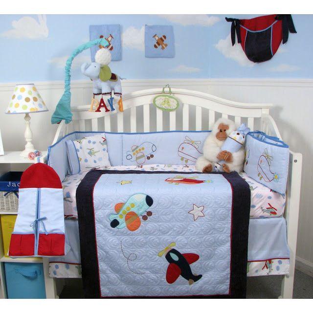 Airplane Crib Bedding Sets For Baby Boys Cheap Crib Bedding Sets
